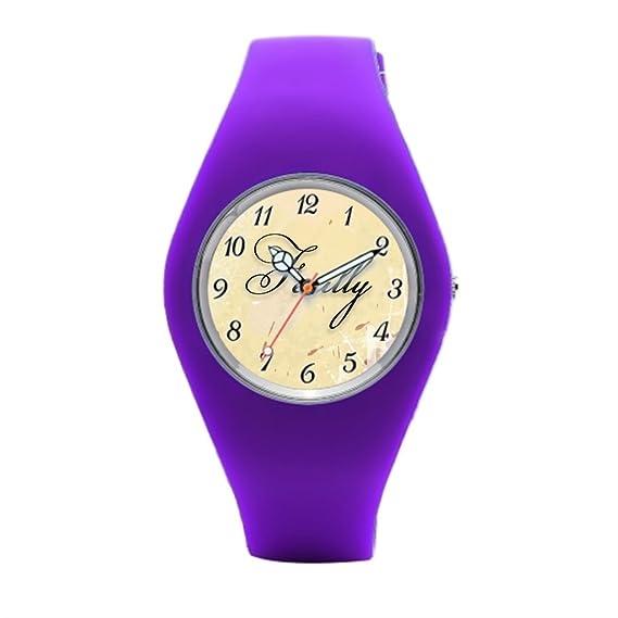 Para hombre de goma reloj Victor Hugo para mujer de goma relojes: Amazon.es: Relojes