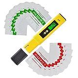 XCSOURCE 4-digit Green LCD PH Meter + 20pcs Buffer Powder, Mini Water Quality Tester 0.00-14.00 PH Measuring Range for Drinking Water, Hydroponics BI750