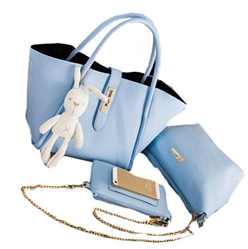 Yiyida - Tote Bag For Women White Blue
