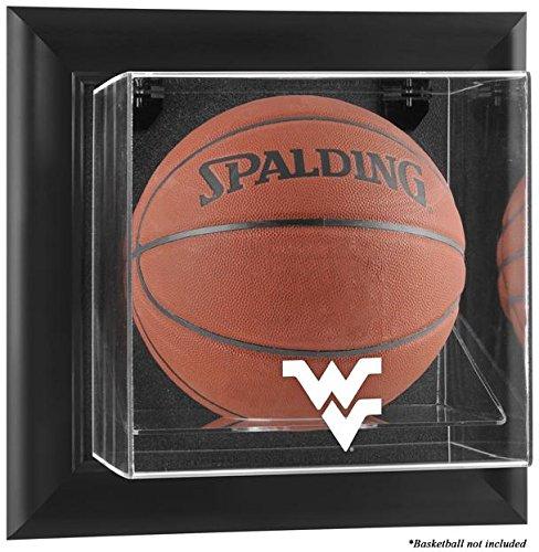 NCAA - West Virginia Mountaineers Framed Wall Mountable Basketball Display Case by Sports Memorabilia