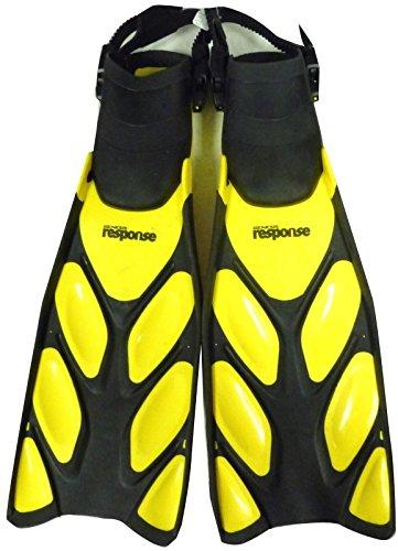 Genesis Response Open Heel Scuba Diving Fins, Dive fins, Diving fins, Scuba gear, SILVER, REGULAR Mens 8-10.5 Womens 9-11.5 - Genesis Dive Gear