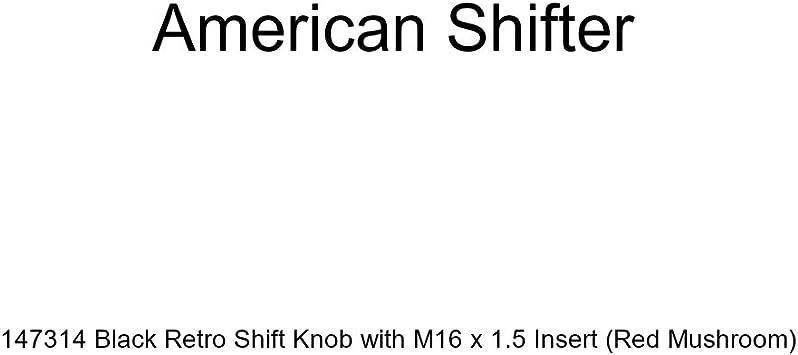 Red Mushroom American Shifter 147314 Black Retro Shift Knob with M16 x 1.5 Insert