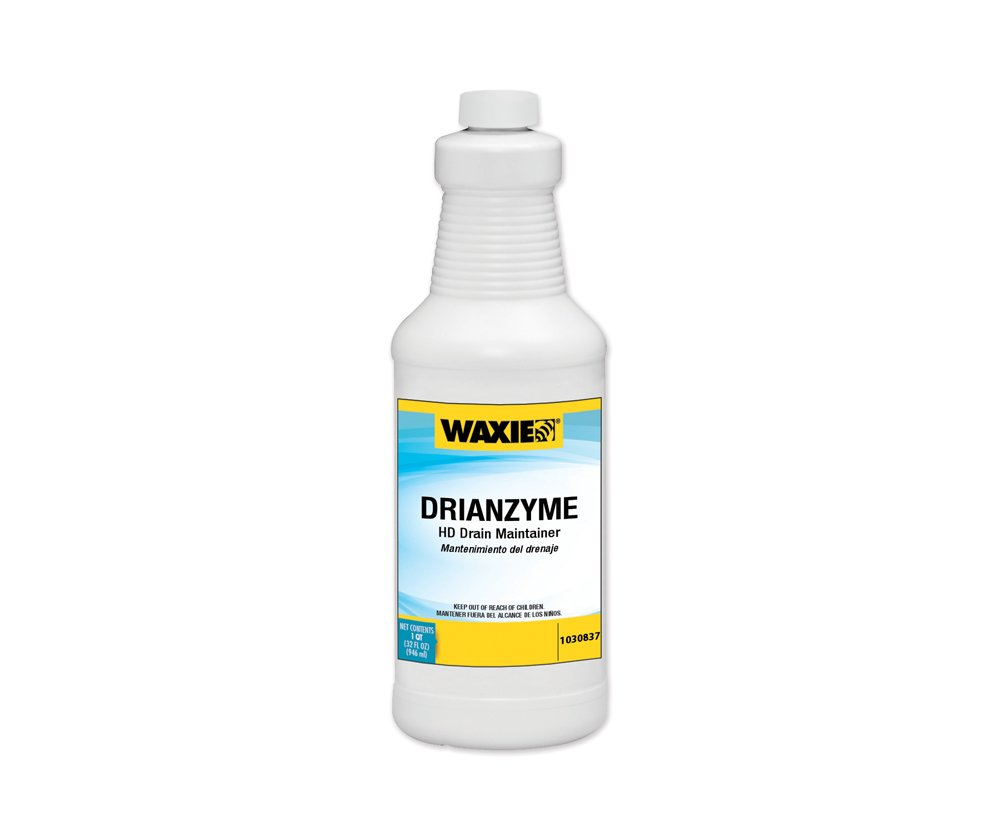 Waxie WDC QT CASE Drainzyme HD Drain Maintainer, 1 qt Bottle (Case of 12)