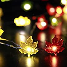 Christmas Lights Battery, Impress Life Maple Leave Garland Lights 10ft 40 LEDs with Timer,Christmas Decoration Clearance Prime Home Decor, Festive Lights for Xmas Tree Holiday Birthday Wedding Party