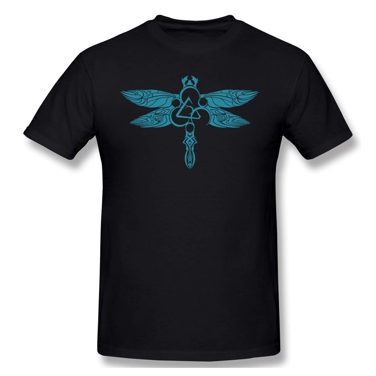 AlanSPerez Coheed and Cambria Symbol Dragonfly Men Shirt,Black,3X-Large