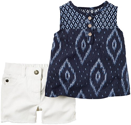 Carter's Baby Girls' 2 Pc Sets 127g143, Navy, New Born
