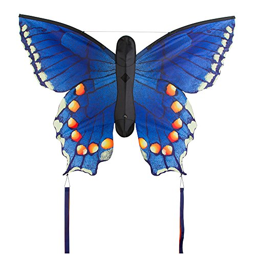 HQ Kites Swallowtail Butterfly Kite, Blue, Large (Butterfly Kite Large)