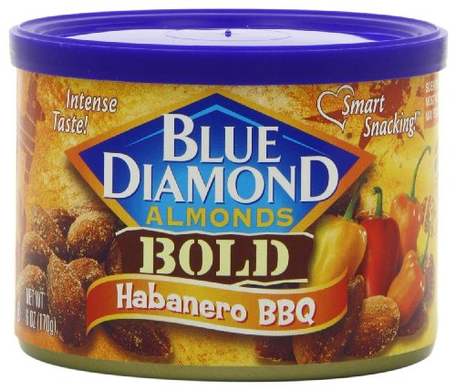 Blue Diamond Almonds Habanero BBQ, 6-ounce Containers (Pack of 4)