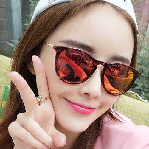 Gafas Señoras conduciendo Gafas de de Versión de Masculinos Sol Conductor de Gente Las Color Coreana Sol polarizadores Retro Blue Masculinas conduciendo Redonda Gafas Gafas Cara Orange w77vqpaz