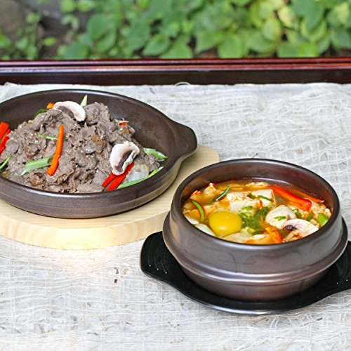 Crazy Korean Cooking Stone Bowl (Dolsot), Sizzling Hot Pot for Bibimbap and Soup Premium Ceramic No Lid, Medium by Crazy Korean Cooking (Image #5)