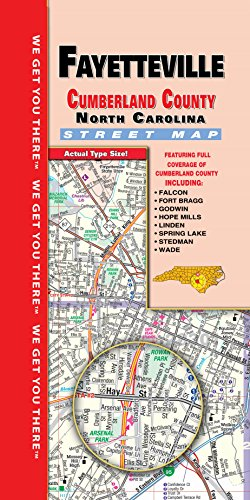 Fayetteville/Cumberland County NC Fold - Nc County Road Maps
