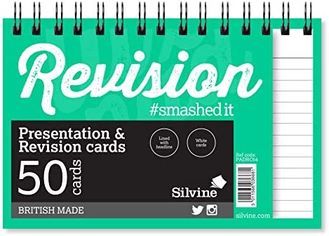Silvine Revision and Presentation Cards Twire Ruled