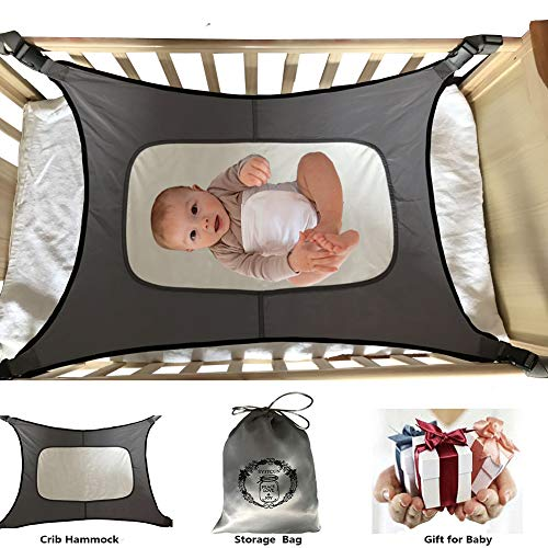 Baby Hammock for Crib Fit Mini Crib & 'n Play Mimics Womb Bassinet Hammock Bed Enhanced Material Upgraded Safety Measures Newborn Infant Nursery Bed (Fisher Price Rock N Play Portable Bassinet)