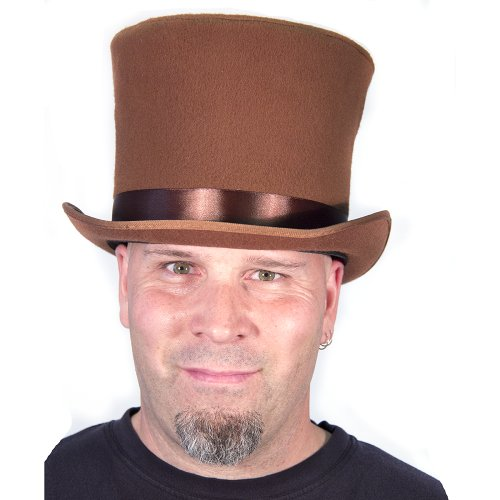 HMS Men's Sim Wool Bell Topper Hat, Brown, One (Willy Wonka Top Hat)