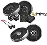 "Infinity Primus 6 1/2"" Component Speaker System With Infinity Primus 6.5"" 2-Way Loudspeaker W/ Metra 72-4568 Speaker Connector Adapter for Select 1984-2013 GM Vehicles"
