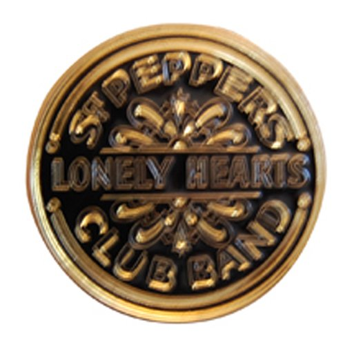 The Beatles Belt Buckle Sgt Pepper Drum Black and Gold ()