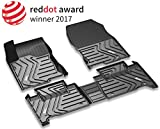 3W Floor Mats Set for Lexus RX (2016-2019) - All Weather Custom Fit Car Floor Mats with Odorless TPE Heavy Duty Carpet Liner for Lexus RX350 RX450h, Black