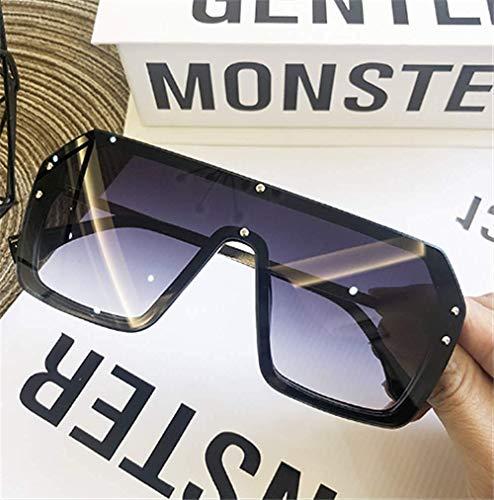 (GONGFF Sunglasses Oversized Framed Body Sunglasses Frameless Men and Women Letter Printing Lens)