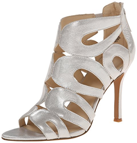Nine West Flora Metallic Sandales ?  talons Silver