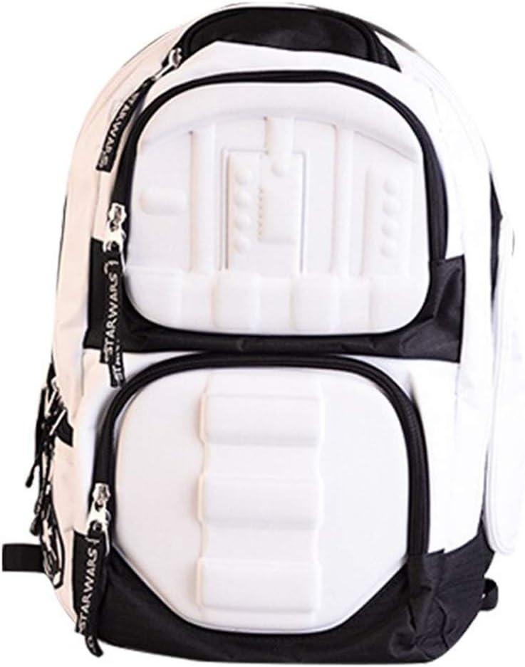 Star Wars Backpack - Laptop knapsack School Bag - Boba Fett Stormtrooper Mandalorian (Stormtrooper)