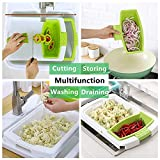 Over Sink Cutting Boards for Kitchen with Container