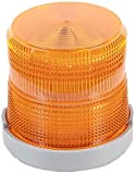 Edwards Signaling 48XBRMA120A XTRA-BRITE LED Multi-Mode Beacon, Polycarbonate/ABS Blend Base, 120V AC, Amber
