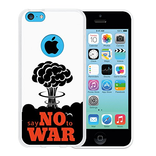 "WoowCase Hülle Case für { iPhone 5C } Handy Cover Schutzhülle Satz - ""Say no to war"""
