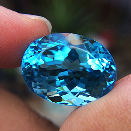 29.24ct Natural Oval Irradiation Swiss Blue Topaz Brazil #B by Lovemom (Image #3)
