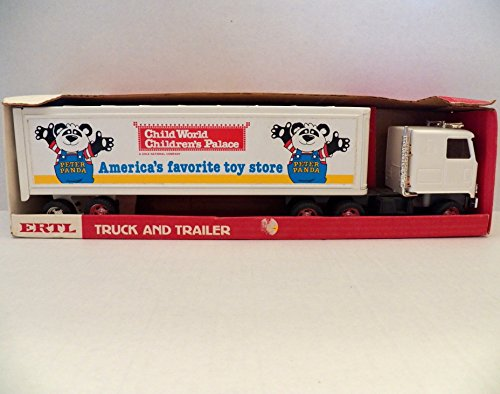 Rare Vintage ERTL Child World Childrens Palace Truck and Tr..