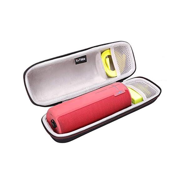 LTGEM EVA Étui rigide Sac de rangement de voyage pour Ultimate Ears UE BOOM 2 / UE BOOM 1 Haut-parleur portatif sans fil Bluetooth. Compatible avec câble USB et chargeur mural 1