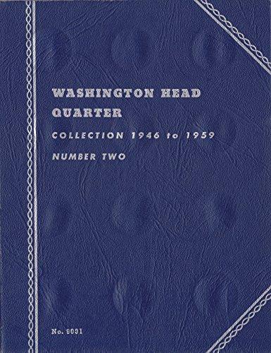 1946-1959 WASHINGTON QUARTER USED Whitman No 9031 TRIFOLD COIN; ALBUM, BINDER, BOARD, BOOK, CARD, COLLECTION, FOLDER, HOLDER, PAGE, PORTFOLIU, PUBLICATION, SET, VOLUME