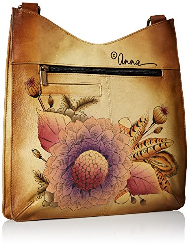 Hand Anna Large V Rustic Women'S Leather Bouquet Top Anuschka Painted Crossbody 7B05Zqq