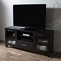 South Shore Adrian Tv Stand For Tvs Up To 60, Black Oak