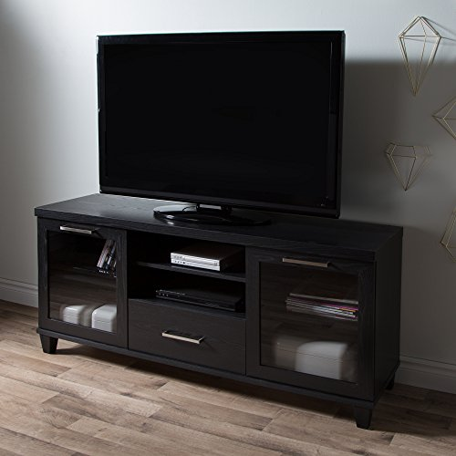 (South Shore 9073662 Adrian Stand for Tvs Up to 60'',Black Oak)