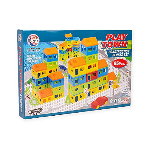 RATNA #39;S Premium Quality Play Town Building Blocks for Kids
