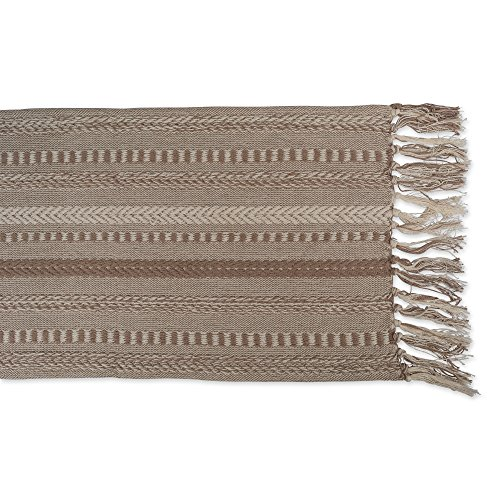 DII 15x72 Braided Cotton Table Runner, Stone Taupe Perfect for Spring, Fall Holidays, Parties and Everyday Use by DII (Image #4)