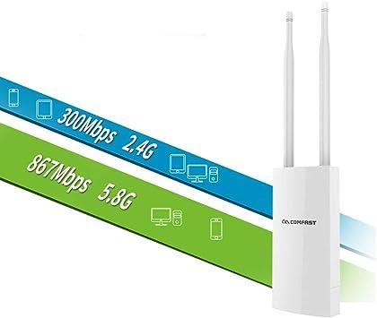 XMAGG® Repetidor WiFi Exterior AC1200 Extensor de Red Banda ...