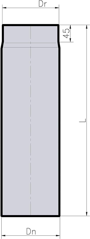 x 250 mm Droit 1,8 mm /Épaisseur Acier Noir Mat env. 6 DuraTherm Tuyau de conduit de po/êle /Ø 150 mm