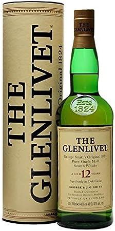 THE GLENLIVET PURE SCOTCH MALT SCOTCH WHISKY AGOTADO 12 AÑOS 70 CL GEORGE SMITH'S ORIGINAL