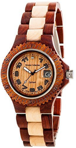 Tense Rosewood & Maple Wood Watch Mens G4100RM ANLF