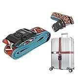Adjustable Travel Luggage Strap Suitcase Security Belt Straps (Orange)
