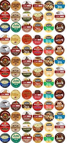 80 Cup Devine DESSERT Flavored Coffee Sampler! Spiced Rum Cake, Italian Rum Cake, Pumpkin Pie, Cinnamon Roll ++ Delicious! 30 UNIQUE ()