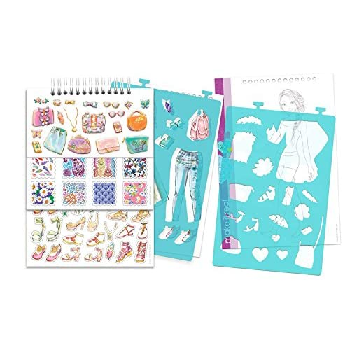 Make It Real Fashion Design Sketchbook Blooming Creativity Inspirational Fashion Design Coloring Book For Girls Includes Sketchbook Stencils Puffy Stickers Foil Stickers And Design Guide Outlet Realevaluation Com