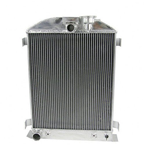 OzCoolingParts Ford Radiator - 4 Row Core All Aluminum Radiator for 1931-1939 Ford High Boy V8 Engines, Automotive Engine Radiator