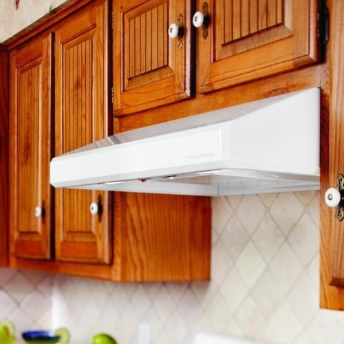 Vent-A-Hood SLH6-K30 30'' Emerald Series Under Cabinet Range Hood With 250 CFM Power Lung Blower Emerald Lip Styling Halogen Lighting SensaSource and Fire-Safe Design in Stainless