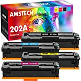 Amstech Compatible Toner Cartridge Replacement for HP 202A CF500A Toner M281fdw HP Color Laserjet Pro MFP M281fdw M281cdw M254dw M281fdn M281 M281dw Toner Printer (Black Cyan Yellow Magenta, 4-Pack)