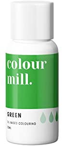 Colour Mill Oil-Based Food Coloring, 20 Milliliters Green