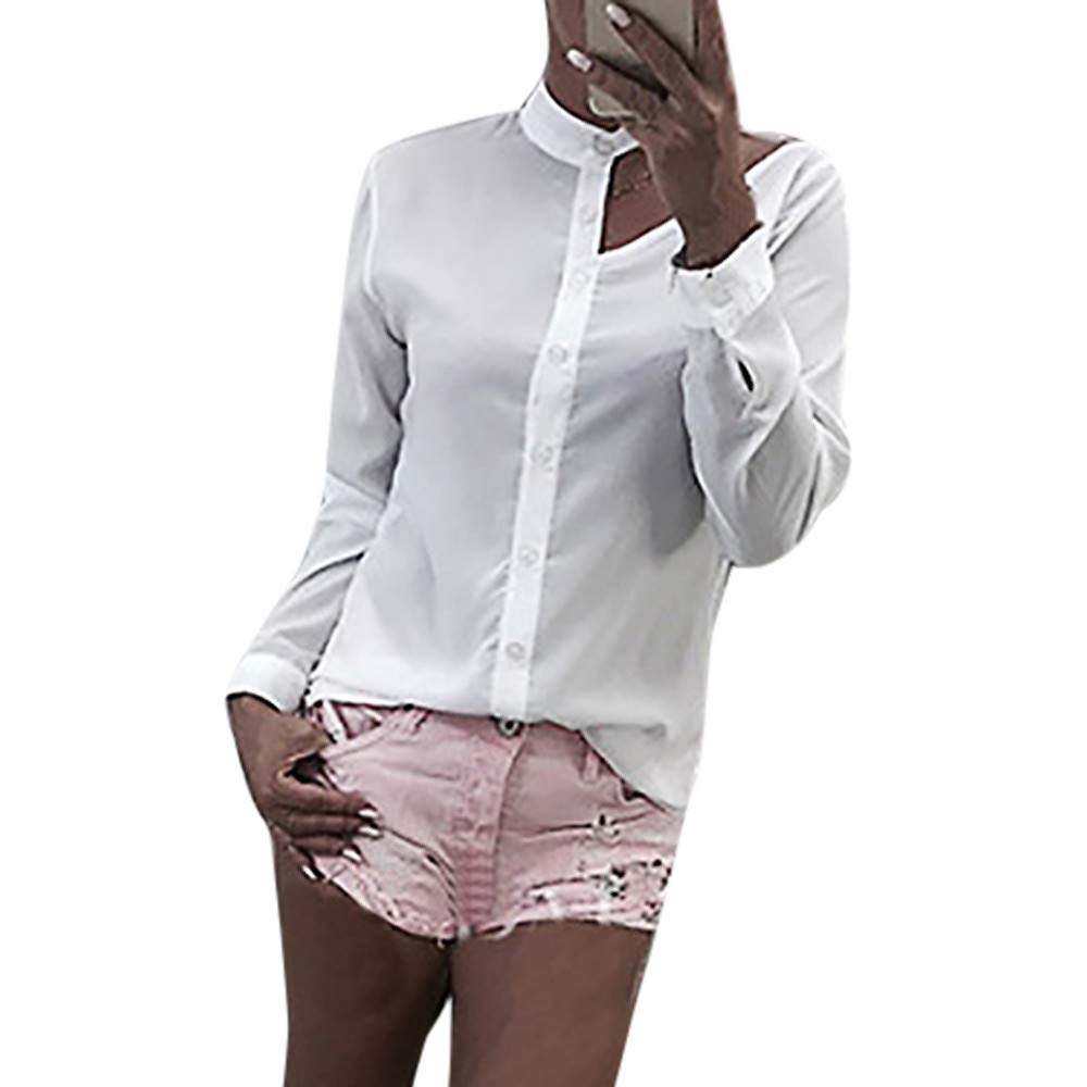 Kumike Sexy Fashion Womens Casual Solid Strapless Asymmetrical Shirt Blouse Tops