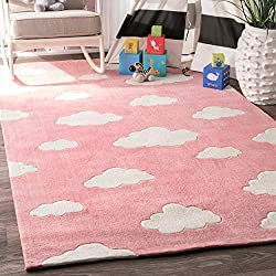 Handmade Modern Cloud Kids Rug
