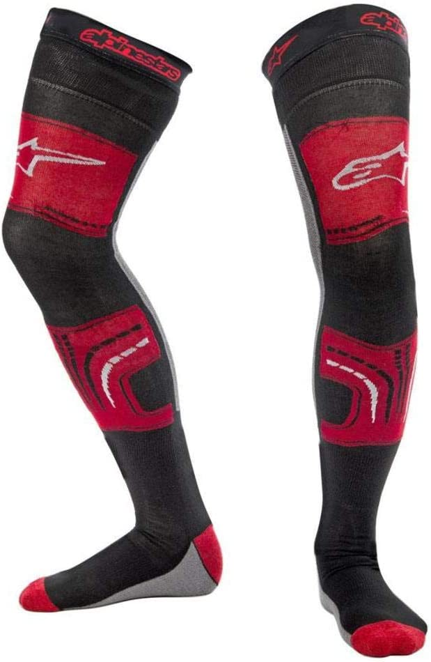 Motorcycle Alpinestars Knee Brace Socks Red Black S//M UK Seller